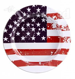 Tin Ashtray - American Flag