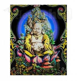 Opticz Black Light Reactive Tapestry - Buddah