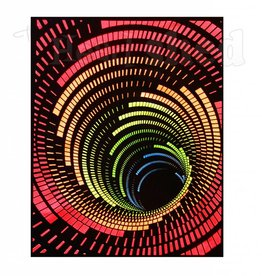 Opticz Black Light Reactive Tapestry - Cosmic Tunnel