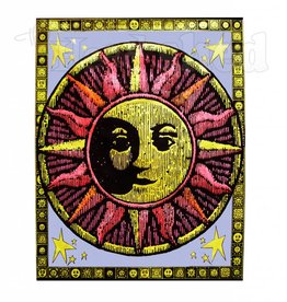 Opticz Black Light Reactive Tapestry - Aztec Sun