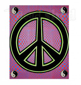 Opticz Black Light Reactive Tapestry - Peace Sign