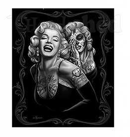 Luxury Plush Blanket - Queen - Marilyn Monroe - Smile Now