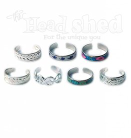 Silver Finished Adjustable Toe Rings - Asst. Design