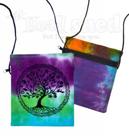 Peaceful Unity Tree Tie Dye Pouch