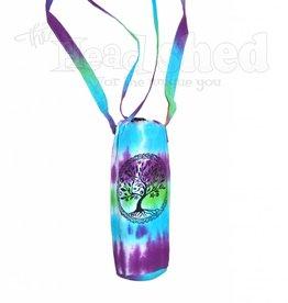 Tie Dye Cotton Water Bottle Bag Peaceful Unity Tree