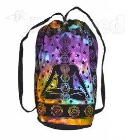 Cosmic Chakra Print Tie Dye Drawstring Backpack