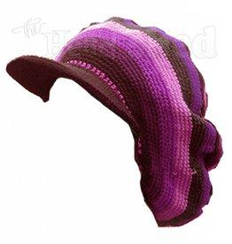Oversized Dread Crochet Applejack Hat