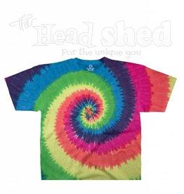 Liquid Blue Liquid Blue Tie Dye T-Shirt - Rainbow Spiral