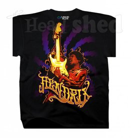 Liquid Blue Liquid Blue Jimi Hendrix Burning Desire T-Shirt