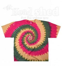Liquid Blue Liquid Blue Tie Dye T-Shirt - Rasta Spiral