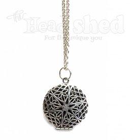 Silver Diffuser Locket Necklace