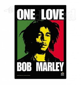 "Fabric Poster Bob Marley ""One Love"""