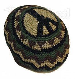 Peace Patrol Crochet Skull Cap