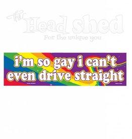 Magnetic Bumper Sticker - I'm So Gay