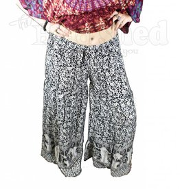 Ladies - Rayon Indian Print Artisan Pants
