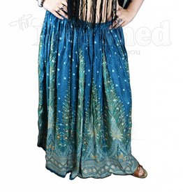 Ladies - Plumage Parade Printed Rayon Long Skirt -