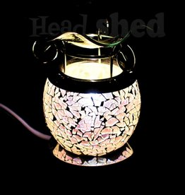 Scentoils Oil Lamp - Silver Crackle
