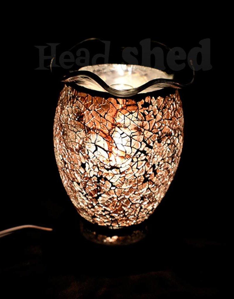 Aromar -  Vitral Oil Lamp - Brown/Gold