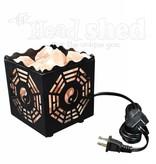 Allora Metal Cube Basket Salt Lamp w/ Bagua Design