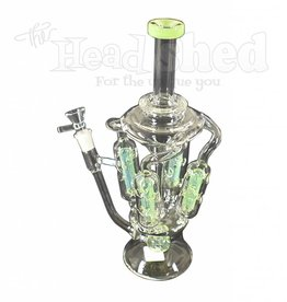 Hillside Glass - UFO Water Pipe w/ 4 Vertical Inline Percs