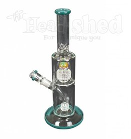 Hillside Glass - Color Lip w/ Barrel Perc Wig Wag Splash Guard Water Pipe