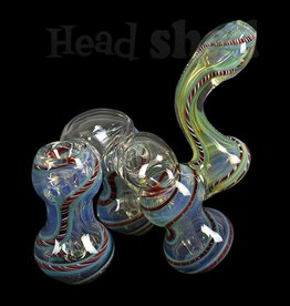Hillside Glass - Bubbler 3 Chambered Fumed w/ Latty