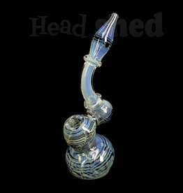 Hillside Glass - Bubbler - Fumed Accented w/ Net Design (5712)