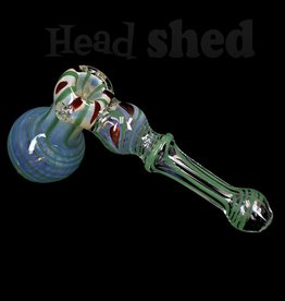 Hillside Glass - Bubbler - Hammer Fumed w/ Color Design (5715)