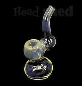 "Hillside Glass- Bubbler - 4"" Fumed (5711)(WH)"