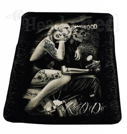 Luxury Plush Blanket - Queen - Marilyn Monroe -  Ride Or Die Hollywood Homegirl