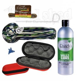 The Head Shed Glass Hand Pipe Essentials Bundle