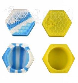 Silicone Jar w/ Honey Comb Printed Lid - 26ml (5581)