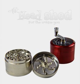Clear Top 4-Piece Grinder w/ Hand Crank Blue