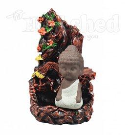 Mountain w/ Buddha Backflow Burner