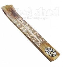 Wide Engraved Wood Burner - Tree Of Life