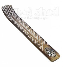 Wide Engraved Wood Burner - Om Lotus