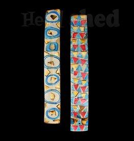 Bone Mosaic & Wood Burner - Vibrant Colors