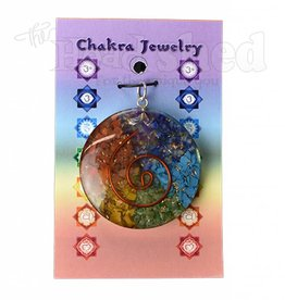 Orgonite Energy Pendants -  Orgone Energy Chakra w/ Copper Sprial