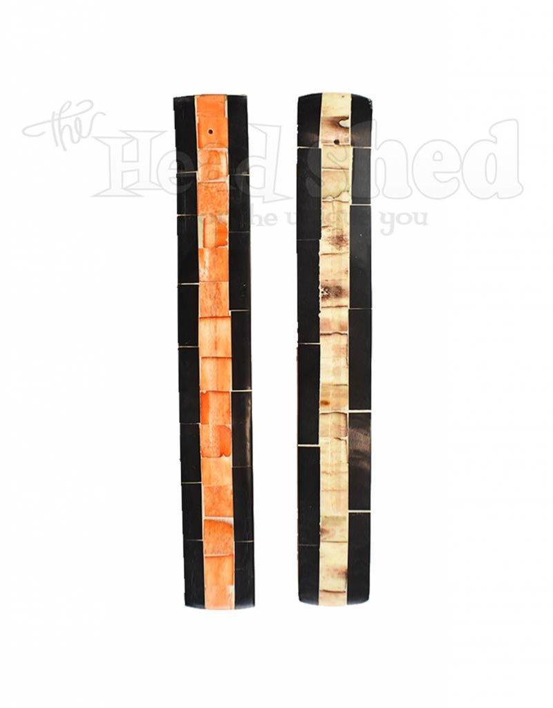 Bone Mosaic & Wood Burner - Natural Tone