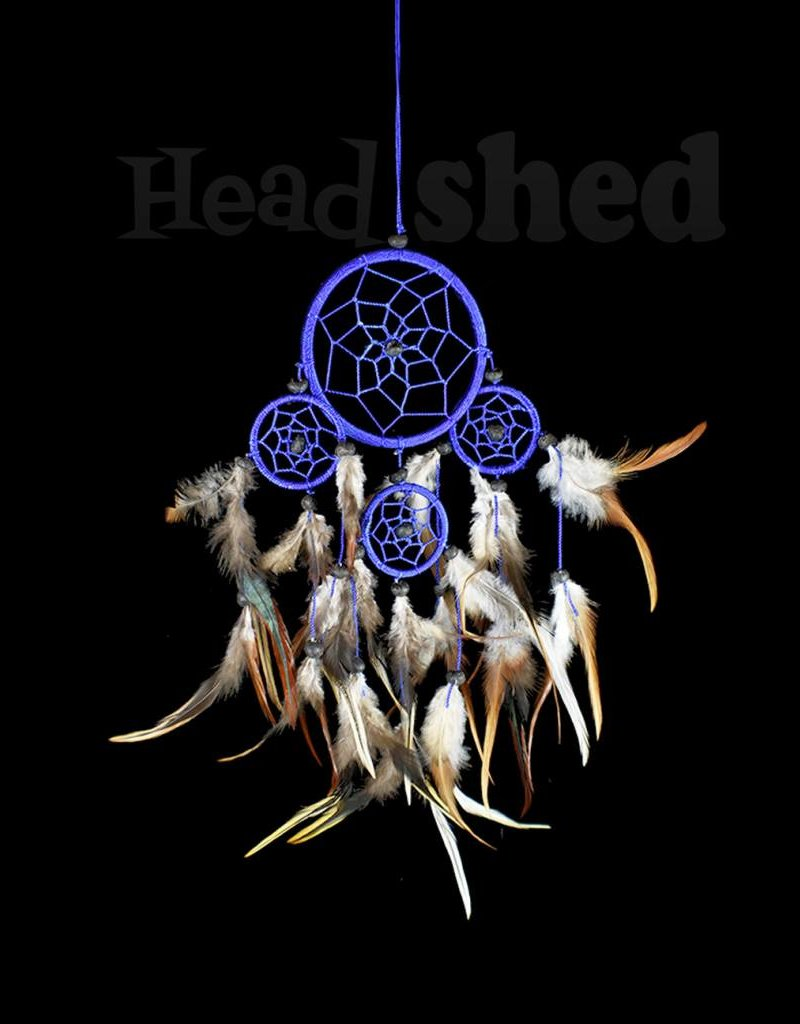 Blue With Brown Feathers - Dreamcatcher