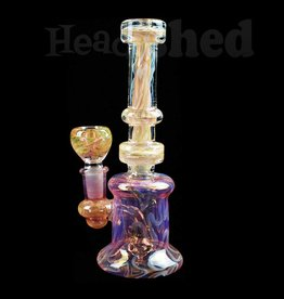 Sol Trading - Gold Fumed w/ Swirl Design Water Pipe
