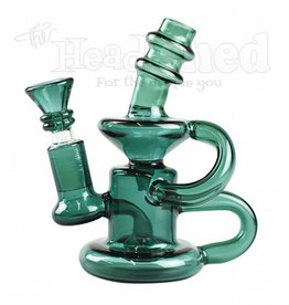 Hillside Glass - Recycler  w/ Natural Downstem & Shower Head Water Pipe - 6""