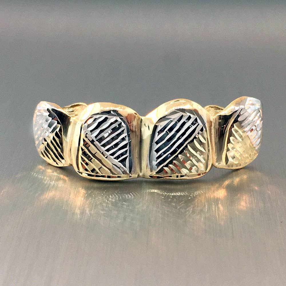 4 Fronts Stripes Rhodium