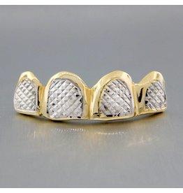 4 Fronts Diamond Cut Rhodium