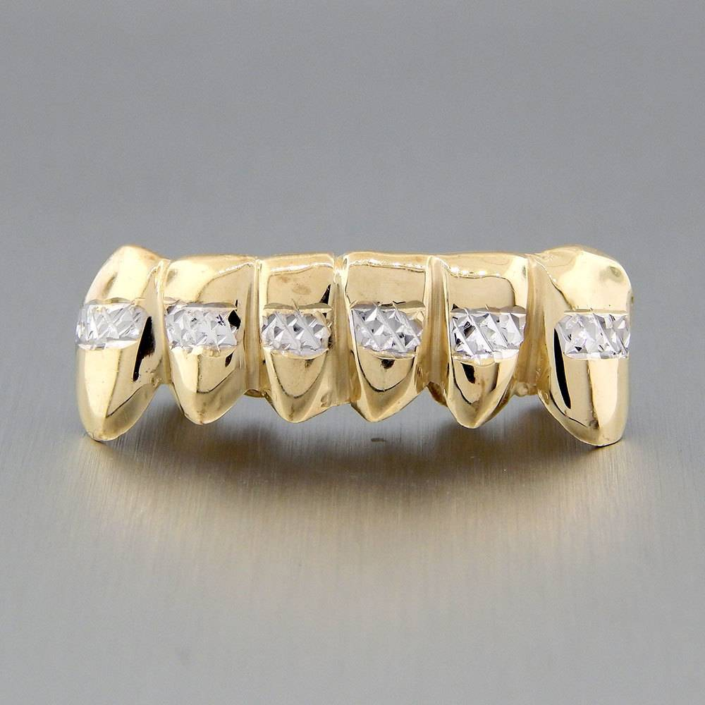 6 Fronts Diamond Cut Line Rhodium