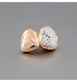 2 Fronts Diamond Cut Rhodium