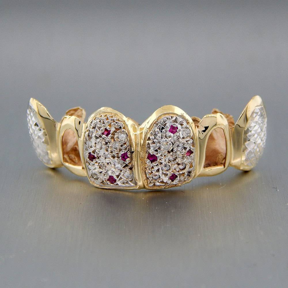 6 Fronts with 18 Diamonds and 8 Rubies Diamond Cut