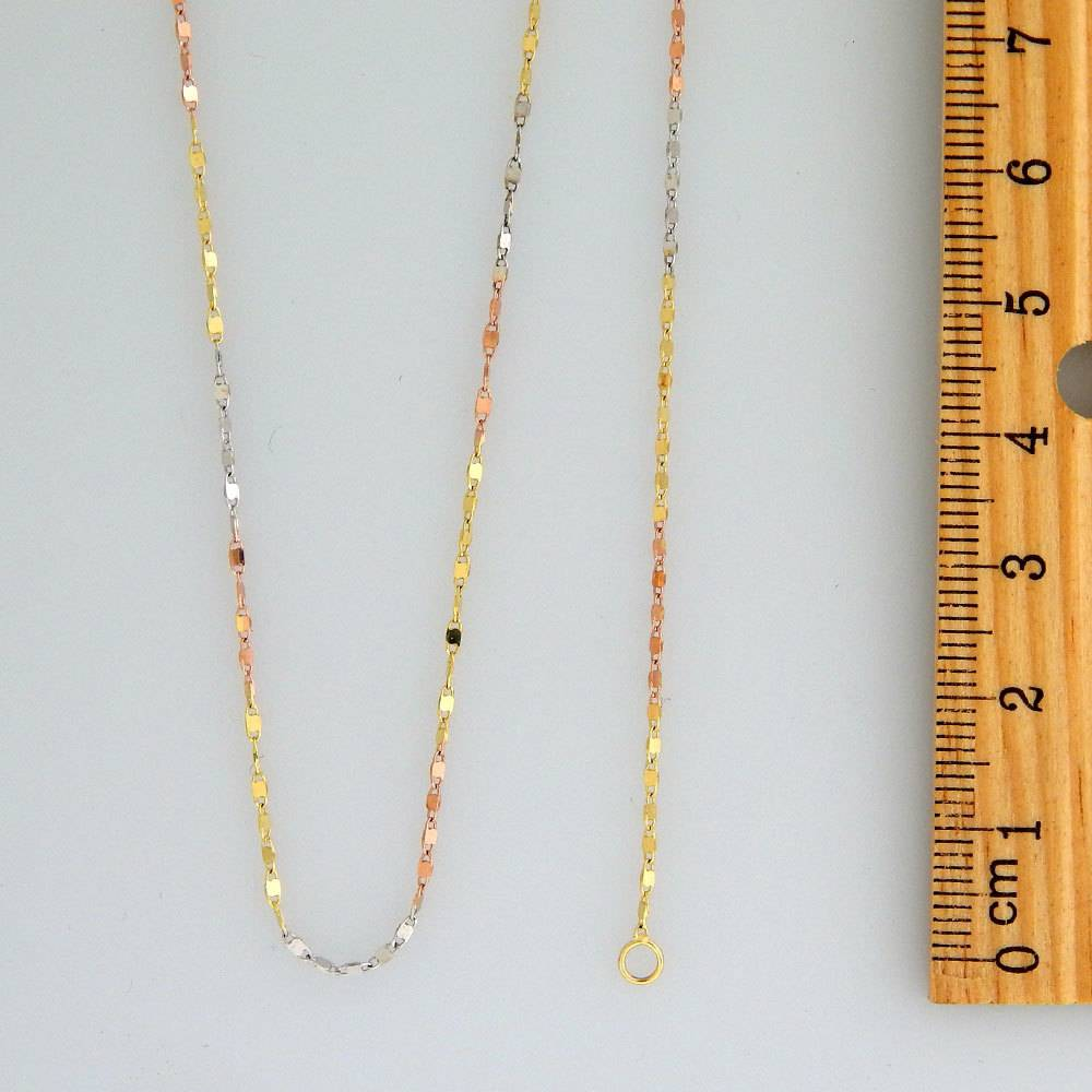 10k Fancy Marquise Mirror Tricolor CF1026A Chain