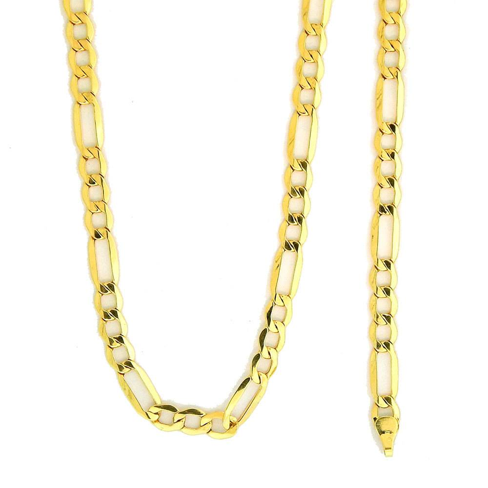 mm inches hollow curb img gold necklace itm chain yellow cuban mens link