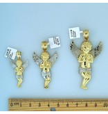 10k Gold Praying Angel Pendant